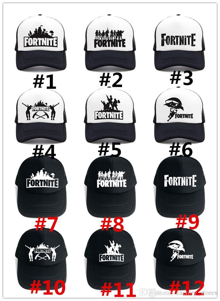 bbea62fd87ffb 2019 Fortnite 3D Print Baseball Hat Hip Hop Streetwear Snapback Summer  Trucker Caps For Men Women Outdoor Sun Mesh Hats Game Fans Gift 2018 From  ...