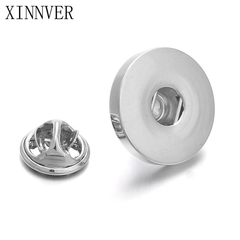 Hot Sale Gifts Sleeve Buttons Silver Metal Snap Jewelry Cufflinks fit 18mm/20mm Cuff Link Clothing Accessories