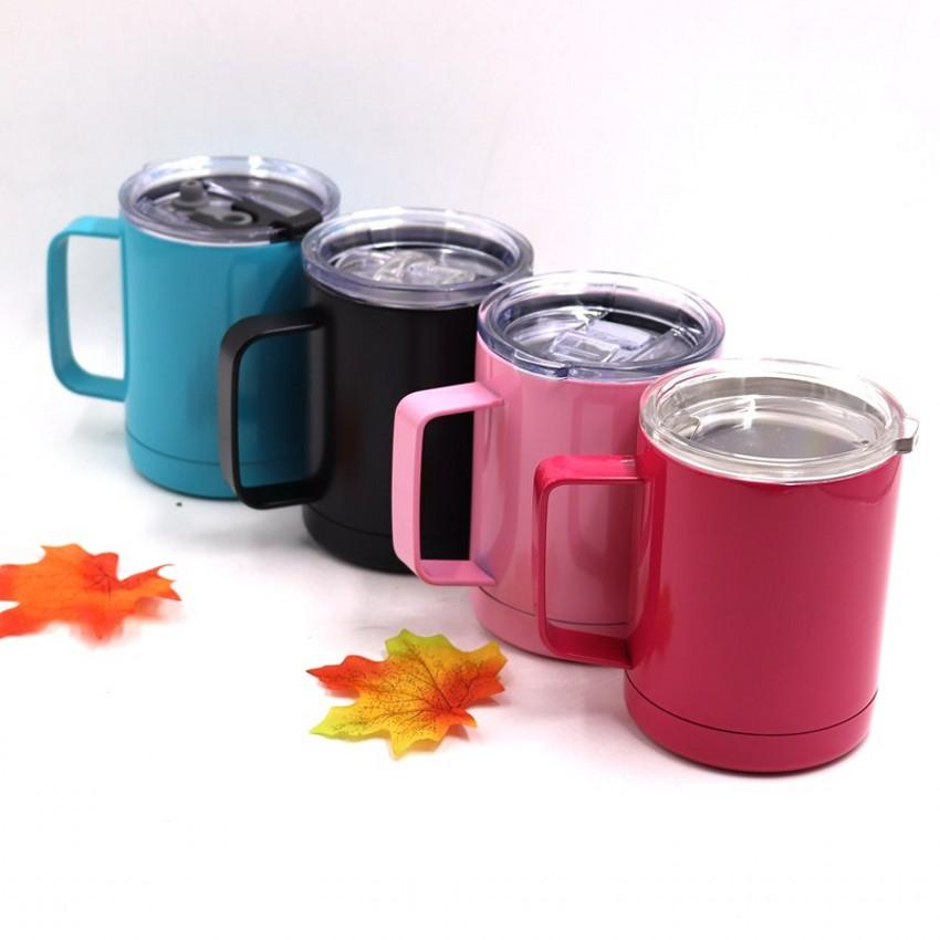 Hot Sale 10oz Tumbler With Lid And Handle Coffee Mugs