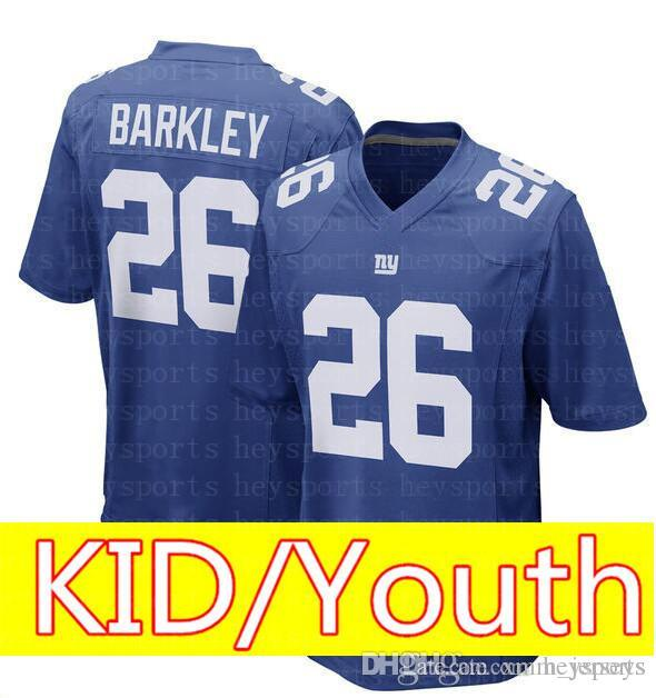 c0d951a7b KID New York Giants 26 Saquon Barkley Jersey Top Youth Green Bay ...