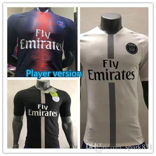 2019 Player Version PSG MBAPPE Home Away Shirt T SILVA CAVANI DI ... e8371a3b0