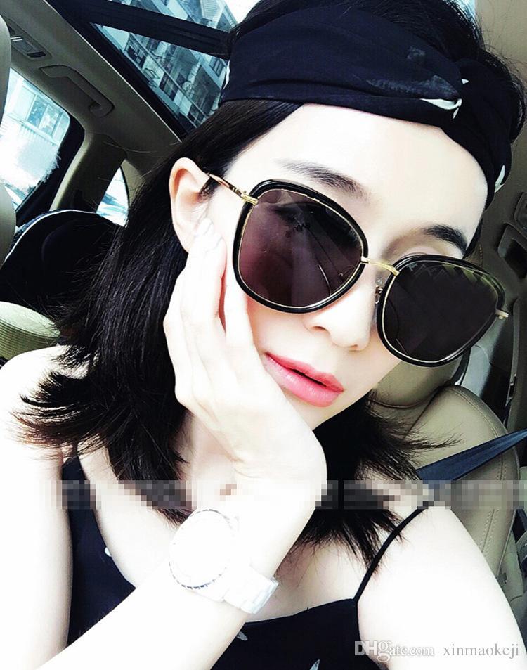 Женщины металл стрелка солнцезащитные очки женский бренд дизайнер плоские линзы солнцезащитные очки ретро круглый элегантный óculos-де-Сол мода классические очки с коробками