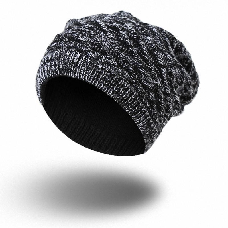 2 Sides Can Wear Knitted Beanie Winter Hat Women Men Touca Gorro Snow Caps  Knit Hat Skull Chunky Baggy Warm Skullies TKH016black Skullies   Beanies  Cheap ... ed69846237c5