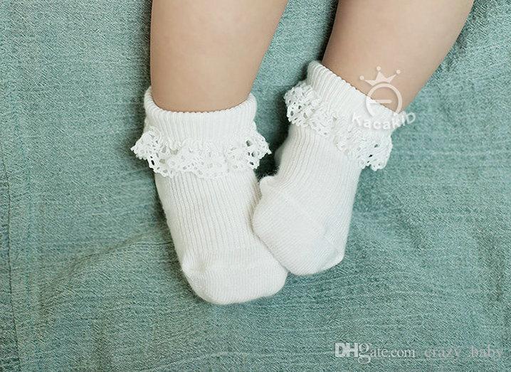 2 paare / los mode spitze baby socken neugeborene baumwolle baby socke niedlichen kleinkind socken prinzessin party