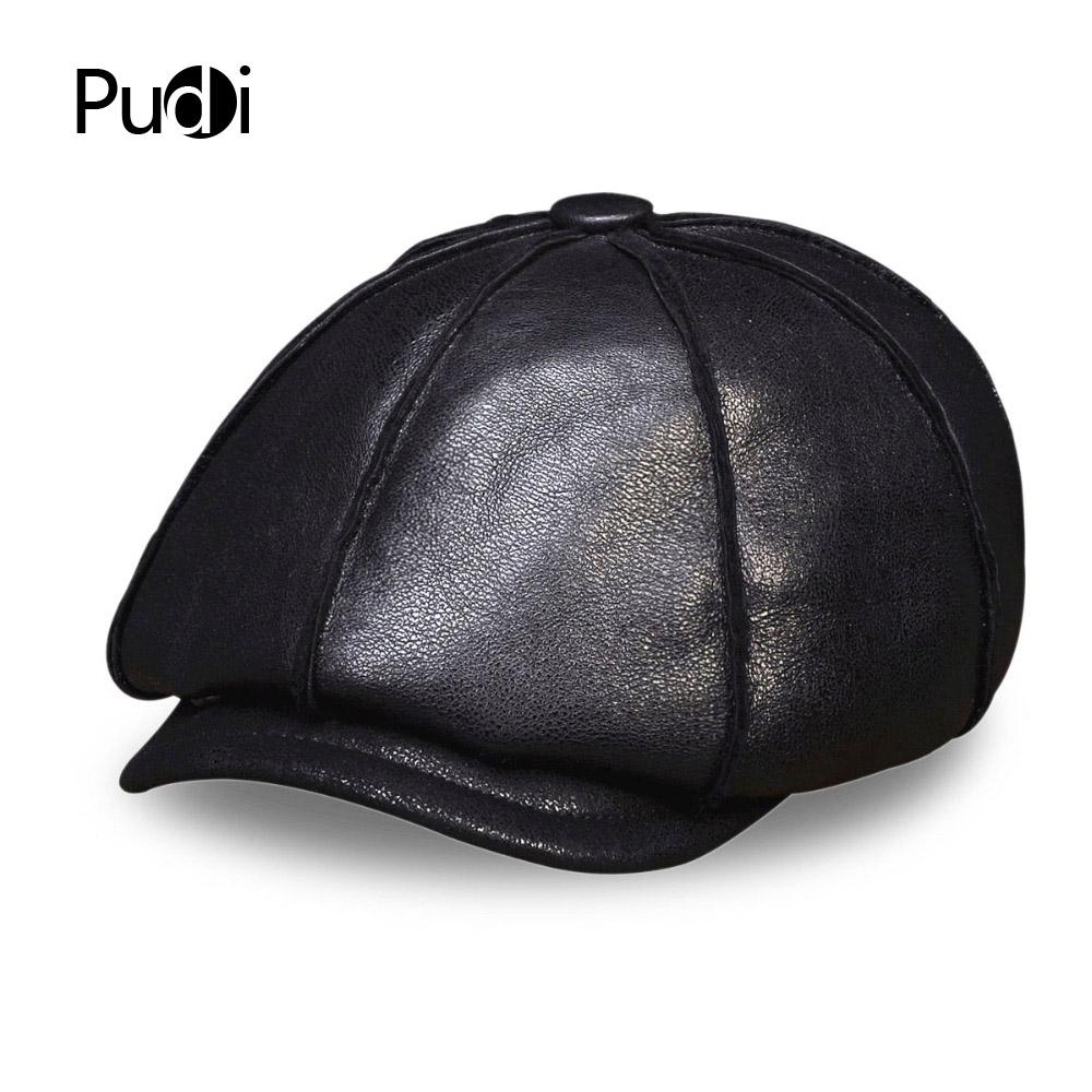 b6ea365e69f5e HL112 Men S Real Leather Baseball Cap Hat Winter Warm Russian One Fur Beret  Belt Hunting Caps Hats With Real Fur Inside Cap Hat Flat Caps For Men From  Pudi