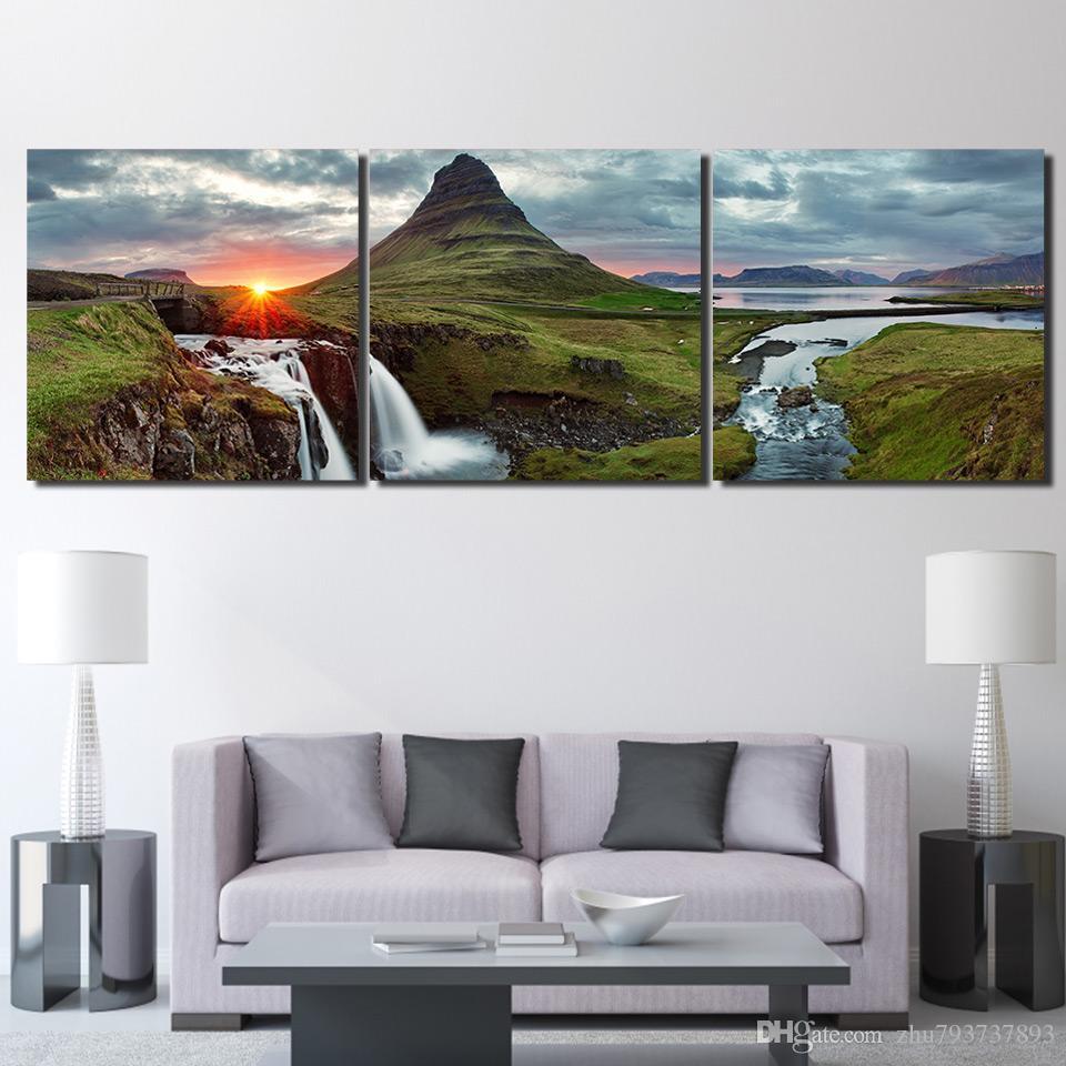 Faszinierend Schöne Leinwandbilder Ideen Von Großhandel Bilder Wandkunst 3 Stück Schöne Island