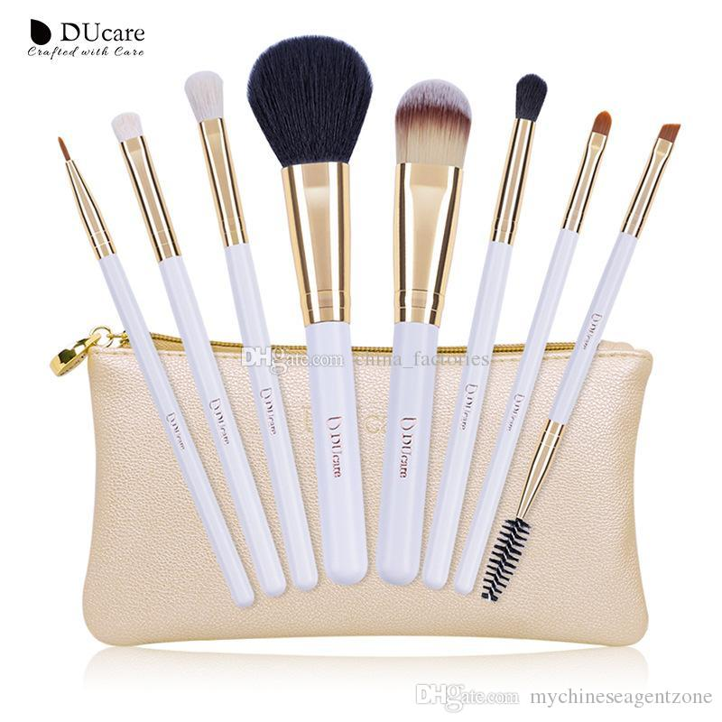24b9c474d23 DUcare Make Up Brushes Brush Set Professional Nature Bristle Brushes ...