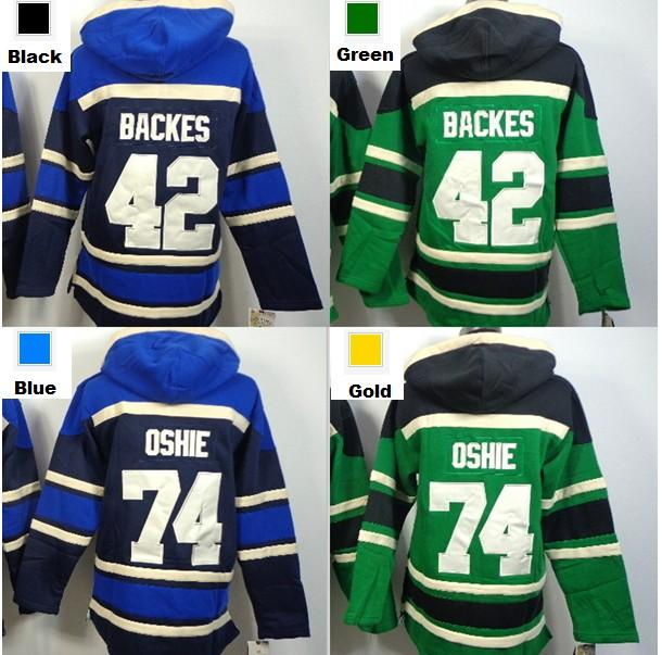 pretty nice 4405f dde05 Factory Outlet, St. Louis hoody 42 David Backes 74 T.J. Oshie Old Time  Hockey Jersey Ice Hockey hoodies / hockey sweatshirt