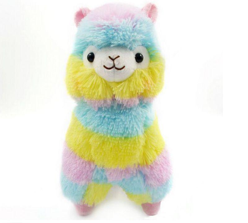 2018 hot selling Cute Rainbow Alpacasso Kawaii Alpaca Llama Arpakasso Soft Plush Toy Doll Gift OTH894