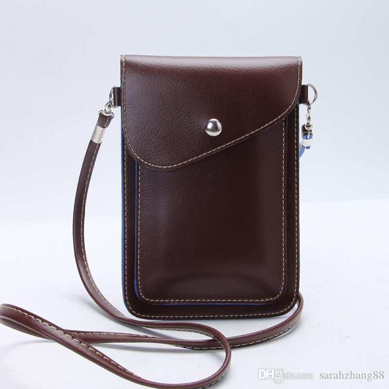 30a6e77df821 Small PU Leather Vertical Cellphone Pouch Bag Mini Crossbody Bag With Shoulder  Strap And Magnetic Button For Apple IPhone Samsung Galaxy Bags Purses From  ...