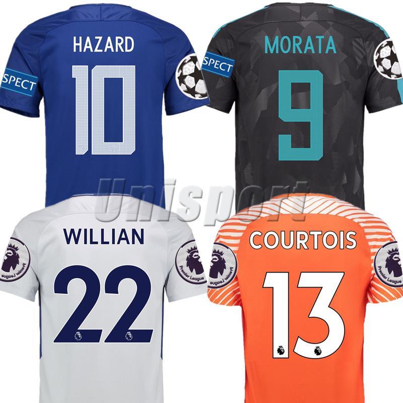 2019 2017 18 Hazard Morata Willian Kanté Pedro Giroud Soccer Jerseys Futbol  Camisetas Football Shirt Kit Maillot Tops From Unisport b90e1744a02bc