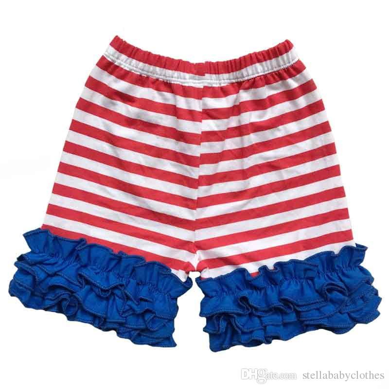 c07af6ae9cca Red White Bule Striped Kids Shorts 4th of July Baby Girls Short Pant ...