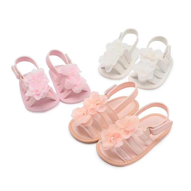 f76a64675 Compre Bebê Meninas Sapatos Mocassins Marca Berço Sapatos Flor Doce Pu  Couro Gancho Laço Skid Proof Princesa Primeiros Passos Rosa Branco De  Bradle