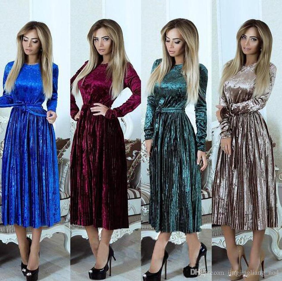 73b5395741e Velvet Long Sleeve Maxi Dress Women Winter Maxi Gown Dress Evening Party  Dinner Long Bodycon Dresses OOA4038 Designer Cocktail Dress Dress Clothing  From ...