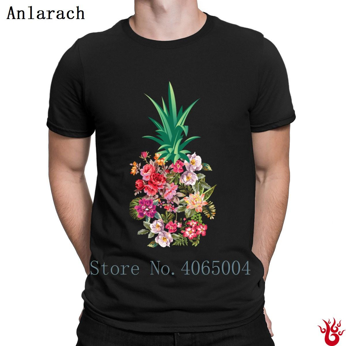9ab6516a2e3a51 Pineapple Flowers Aloha Hawaii Vintage Hawaiian T Shirt Pop Top Tee  Authentic Men S Tshirt 2018 S Xxxl Fit Slim Original Coolest T Shirt Shirts  With Designs ...