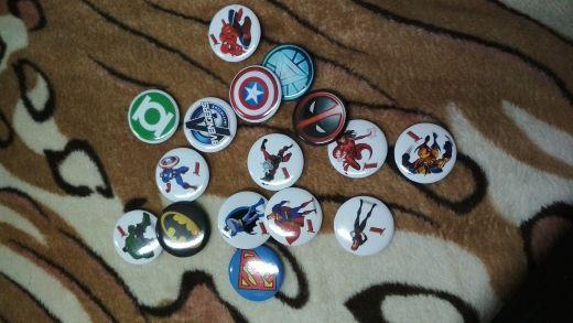 Avenger Trolls Mario Superhero Pin Insignias Cartoon 3.0 CM Ronda Broche Accesorios de moda Botones Bolsas / Sombreros Decoración Kid Gift Party Favors
