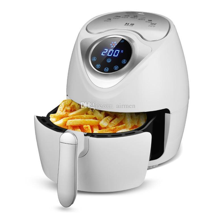 Machine sans frites française sans fumée intelligente électrique d'huile de frites de 220V 2.6L LCD pour la maison utilisant la friteuse à air électrique