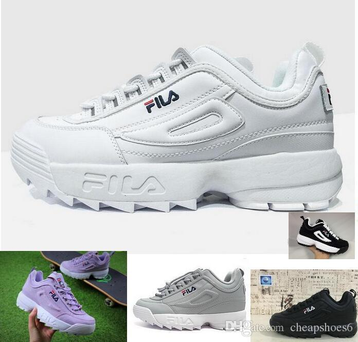 Kids Big Boy Disruptors 2.0 Mens Womens White Purple Sneakers Raf ... 8e77bd441