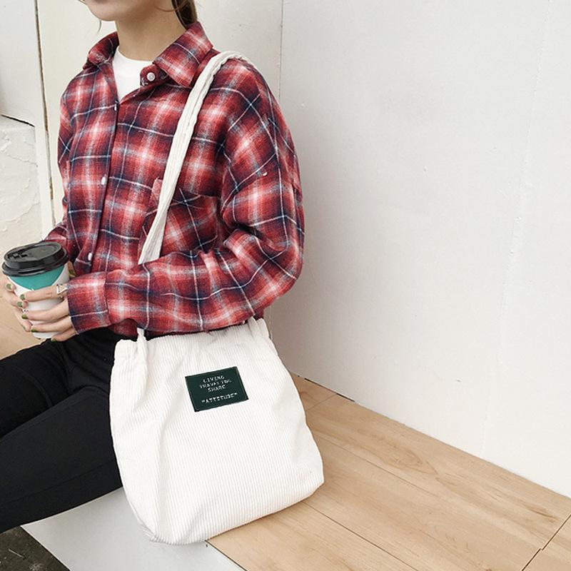 Neue Damen Pflicht Leinwand Tote Bag Handmade Baumwolle haushalt Schule Reise Frauen Falten lange schultergurt Einkaufstaschen frauen