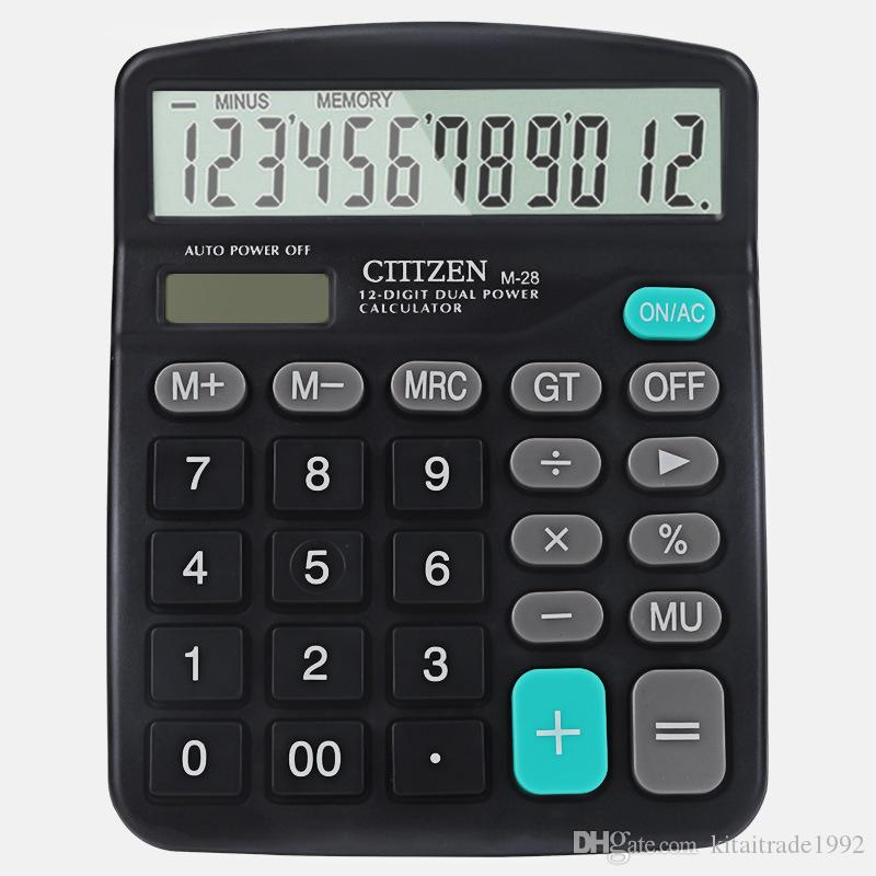 Multi-function Solar dual power calculator M28 solar calculator 12-bit gift logo customization General Purpose Calculator Free shipping