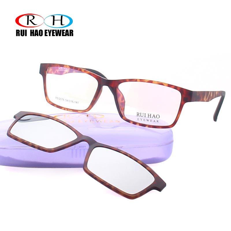 e70117504b Compre Rui Hao Eyewear Leopard Optical Eyeglasses Frame Hombres Gafas  Graduadas Frames Gafas De Sol Polarizadas Clip En A $55.19 Del Zaonoodle |  DHgate.Com