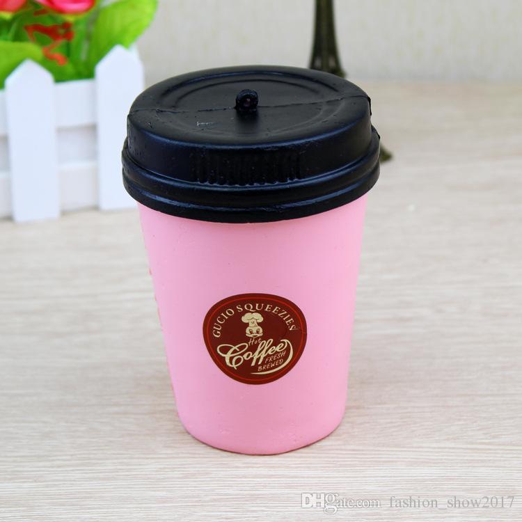 Jumbo 11cm Kaffeetasse Squishy Langsam Steigender Niedlicher Telefonriemen Kawaii Anhänger Stretchy Brot Kuchen Dekompressionsspielzeug