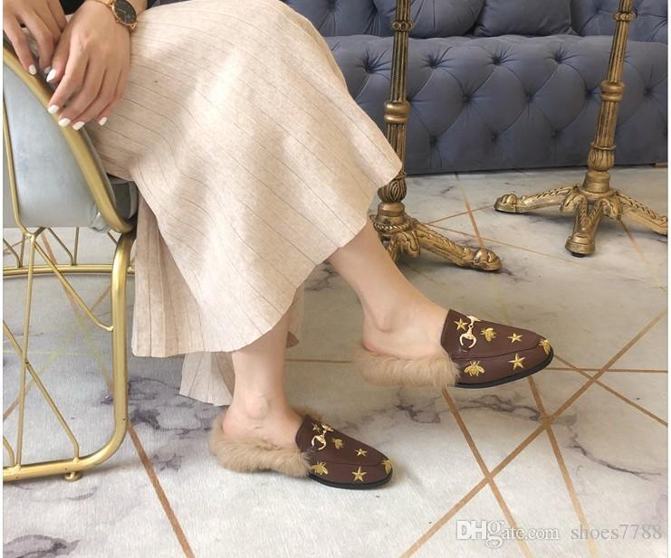 f2ad6bd70a1c Autumn And Winter Luxury Shoes Warm Women Shoes Sandals Flip Flops ...