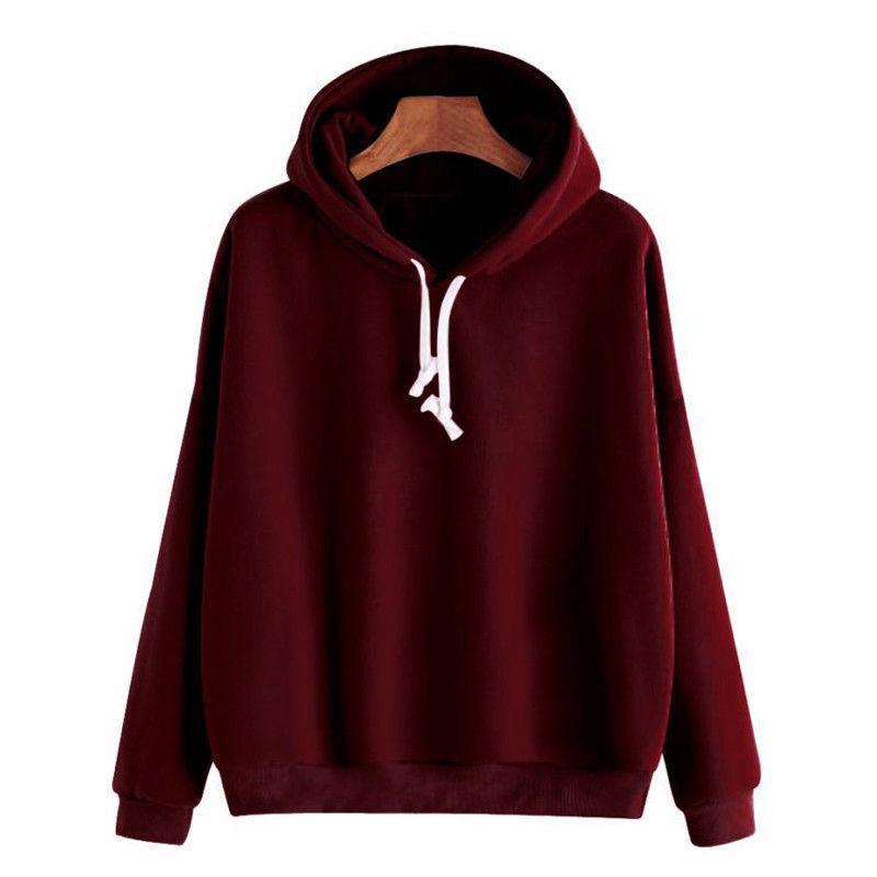 c3b6bb8ad324 2019 Autumn New Solid Hoodies Women Sweatshirt Ladies Hoodie Jumper ...