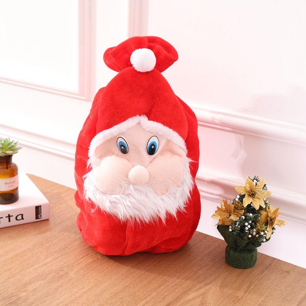 Christmas Gift Bag New Arrival Cute Santa Claus Plush Drawstring ...
