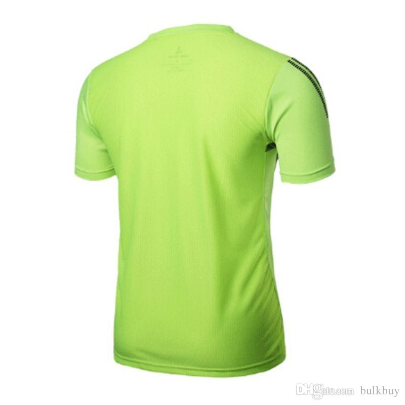 Men Gym Sport Running T Shirt Fitness Muscle Quick Dry Stretch Top Tee Clothes