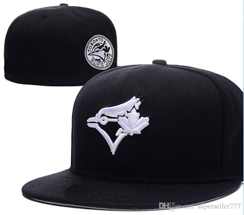 badbea1c826 Fitted Hats Sunhat Blue Jays Hat Cap Team Baseball Embroidered Team Flat  Brim Hats Baseball Size Cap Brands Sports Chapeu For Men Women Cool Caps  Flat Brim ...