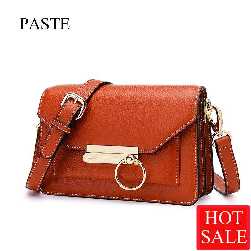 017dfabbb444 PASTE 8P3018 Female Totes Women Shoulder Bag Leather Messenger Bags Fashion  Lady Satchel Bag Fashion Handbags Crossbody Bags Italian Leather Handbags  Luxury ...