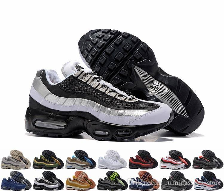 5bfc8cf547cf 2018 New Cheap Mens Sports 95 Running Shoes Premium 95s OG Neon Cool Grey  Maxes Sports Air Shoes Sneakers Trainers Size 12 95 95 Shoes Mens Running  Shoes ...