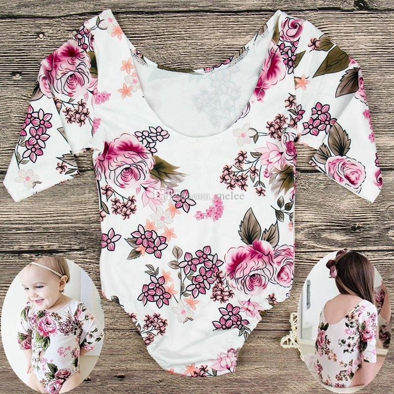 f094896dd103 2019 1 5Years Ins Kids Girls Floral Rompers Baby Girl Rompers Long Sleeve  Jumpsuits Kids Ruffle Bodysuits Childrens Clothes Toddler Onesies From  Melee