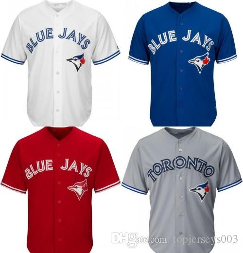 finest selection a4e97 383e3 blue jays jersey no name