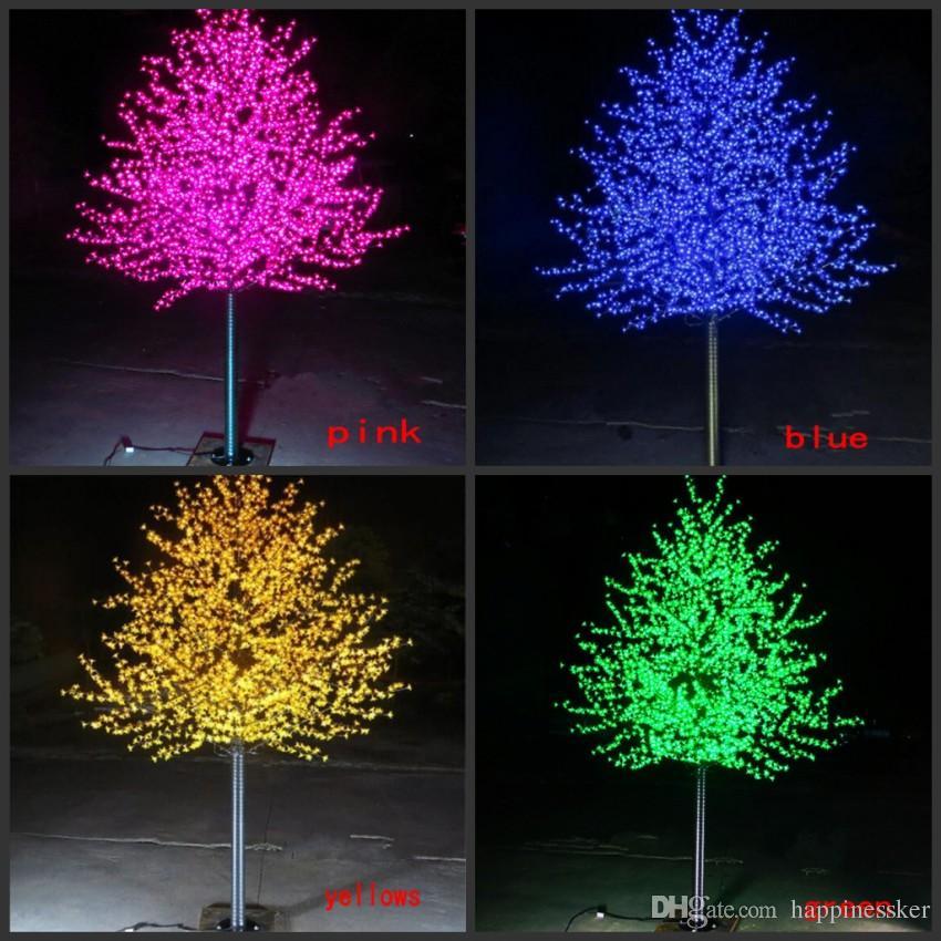 480led2304led 15m3m height led cherry blossom tree led christmas tree light waterproof 110220vac white color outdoor use free ship christmas balls