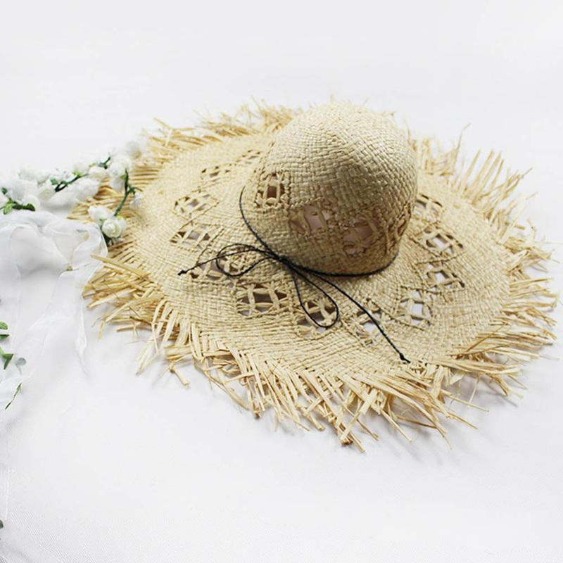 633f0acd11fd1 Women Summer Sun Hat With A Large Brim Ladies Raffia Straw Hat Fringe Big  Beach Hats For Holiday Sombrero Hombre Verano Ladies Hats Floppy Hats From  ...