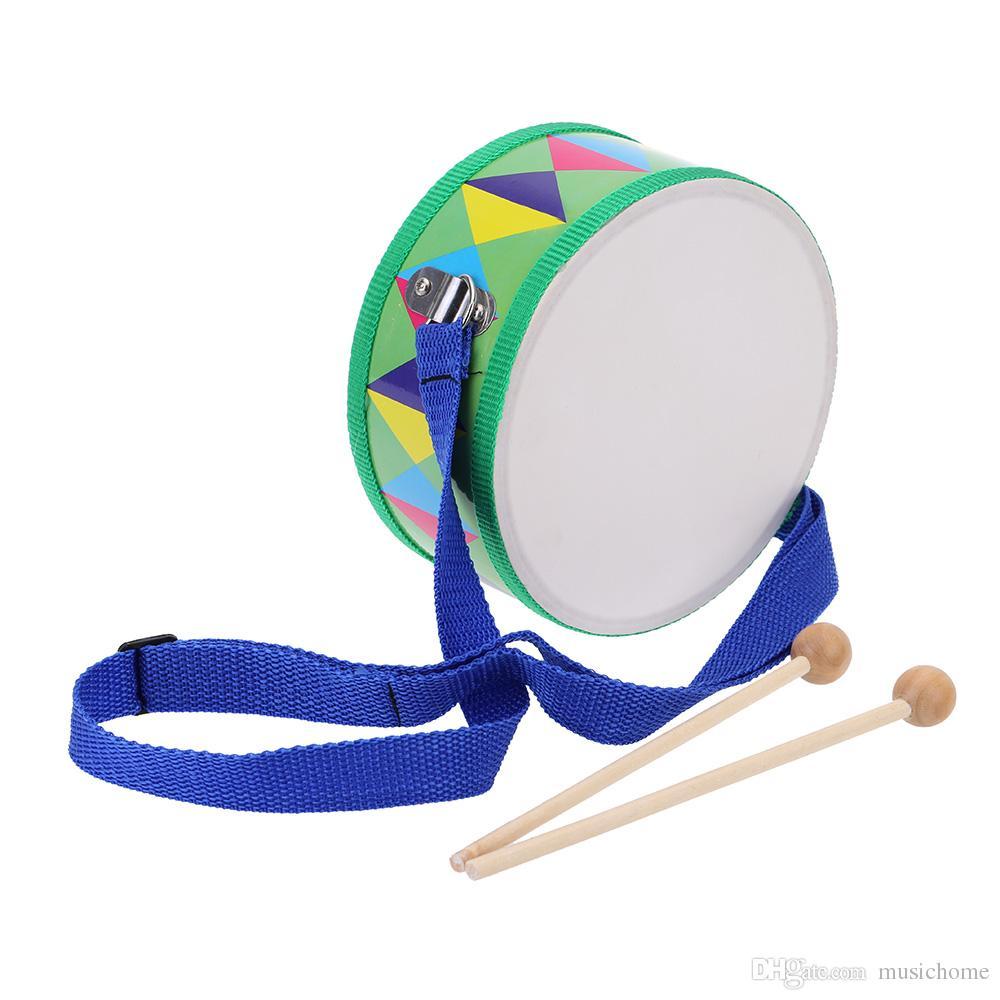 Strumento musicale di legno del battito del rullo del rullante del rullante della carta di plastica con i bambini