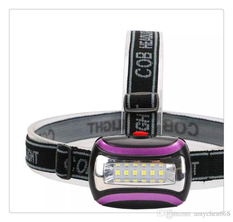 Водонепроницаемый 6 светодиодных фар 3 режима Рыбалка открытый кемпинг езда свет повернуть фары лампе Frontale головной свет