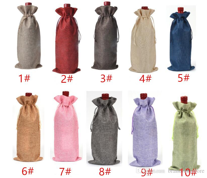 Wine Bags Wine Bottle Sets Gift Presentation Packing Bag Pulling Rope Bags 750ML16 * 36cm