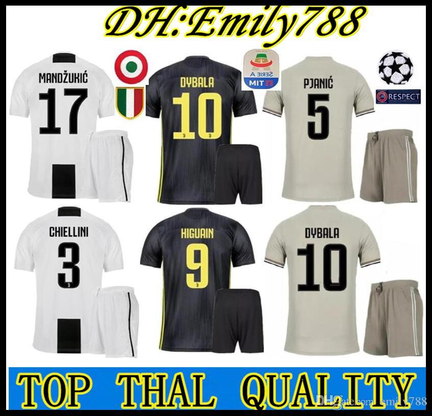 RONALDO Jersey Adulto Camiseta 2018 Camiseta Fútbol 18 19 Juventus HIGUAIN  D. Costa MANDZUKIC Camiseta De Fútbol Juvenil DYBALA Camiseta De Futbol Por  ... 3b8788b936abf