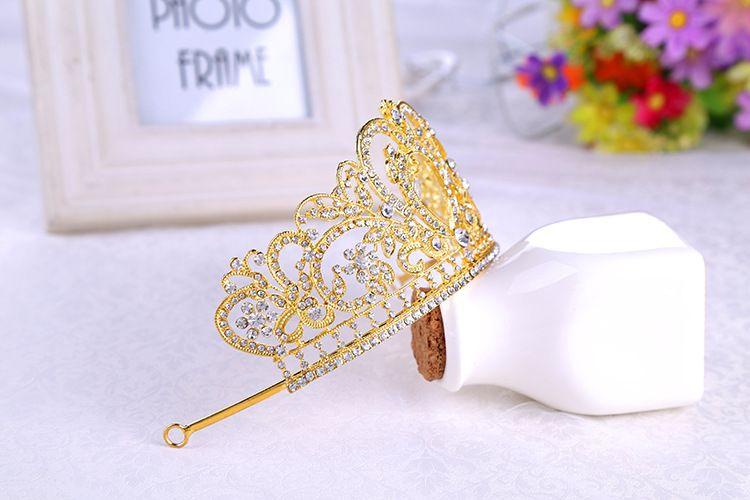 L'Europa e gli Stati Uniti Barocco Crown lega di alta qualità Diamond Jewelry nuziale Crown Fashion Hot Wedding Tiara all'ingrosso