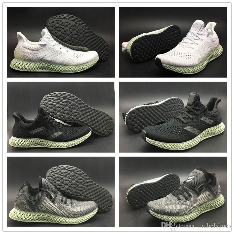75c3f385d TOP AlphaEdge 4D LTD Printing Technology Running Shoe Futurecraft Grey Black  White Mens Designer TOP Quality Sport Sneaker Shop Shoes Men Shoes On Sale  From ...