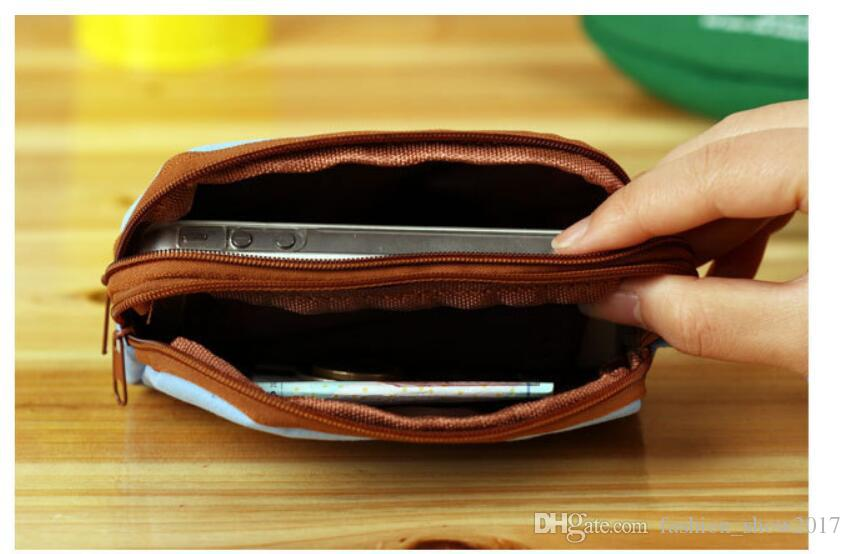 Corea Lovely Girls Canvas Bolsas de la moneda de las mujeres Key Wallet Cute Cartoon Mini Monedero Niños Regalos de los niños