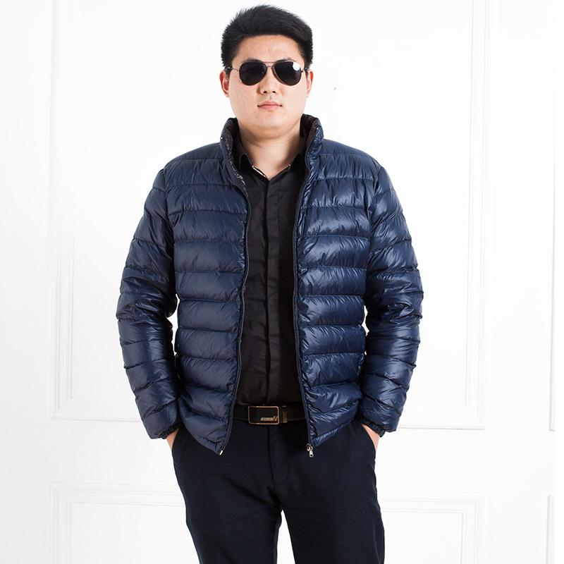 6c4e91a20b3 2019 Winter Plus Size Men S Clothing Fat Thick Jacket Winter Thermal Stand  Collar Short Design Warm Outerwear Thin Coat M 7XL 150kg From Primali