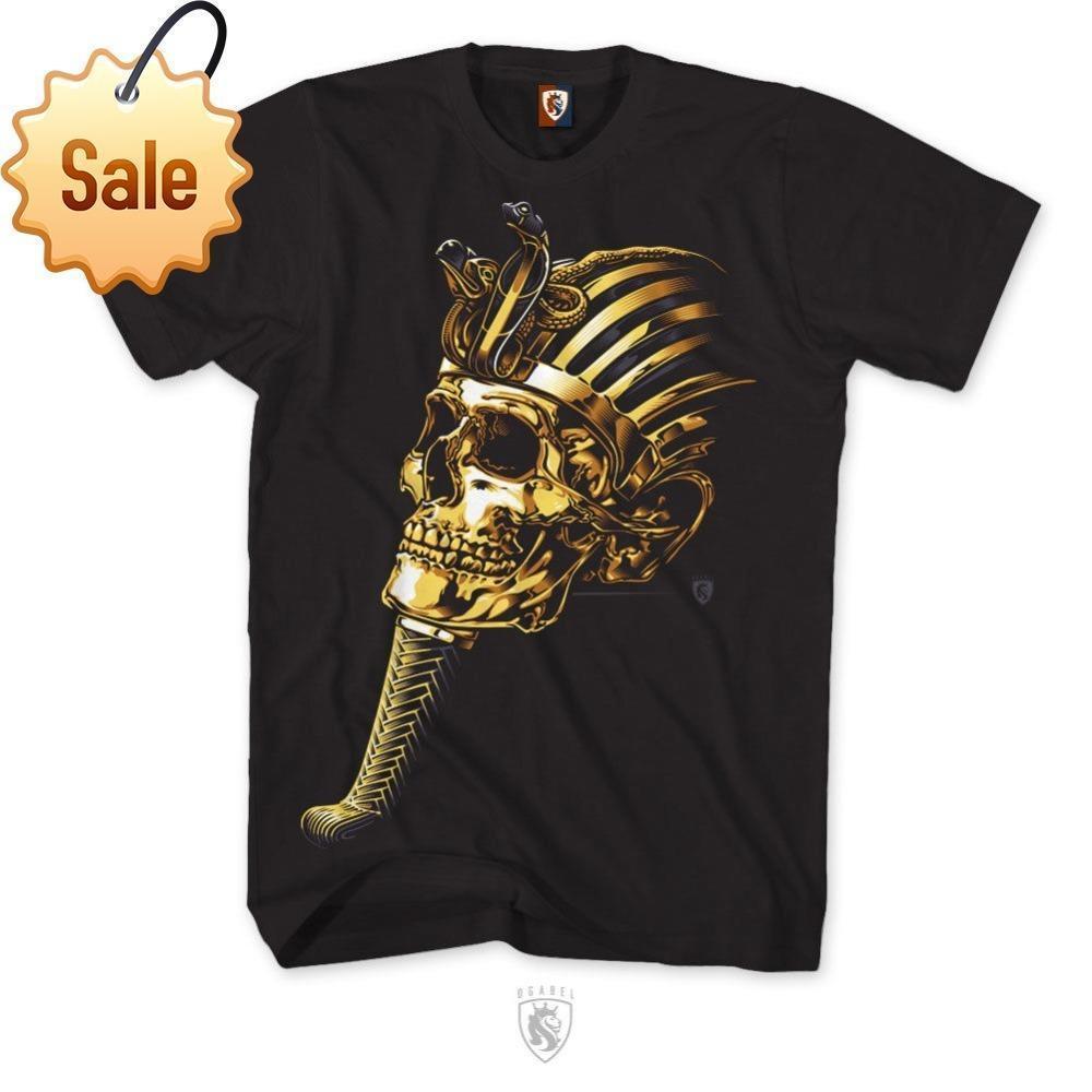 2018 Streetwear Short Sleeve Tmens King Tut T Shirt Art Tattoo Ink