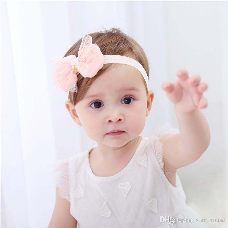 Baby Girl Elastic Flower Headband Rubber Children Baby Nice Hair Rubber  Headwear Skinny Stretchy Bowknot Flower Hair Band Hair Jewelry Jewelry  Headband From ... 3c664f2803a