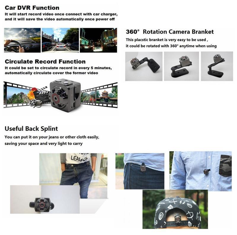 SQ8 Full HD 1080 P Mini Voiture DV DVR Caméra Caméscope IR Vision Nocturne Livraison Gratuite