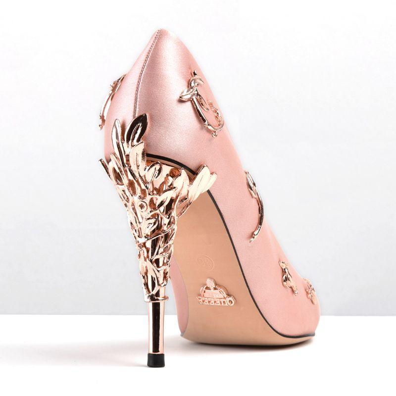 Luxus Designer Brautschuhe Schuhe High Mode Party Frauen Heels Hochzeit On Spitzen Slip Prom dtsQhr