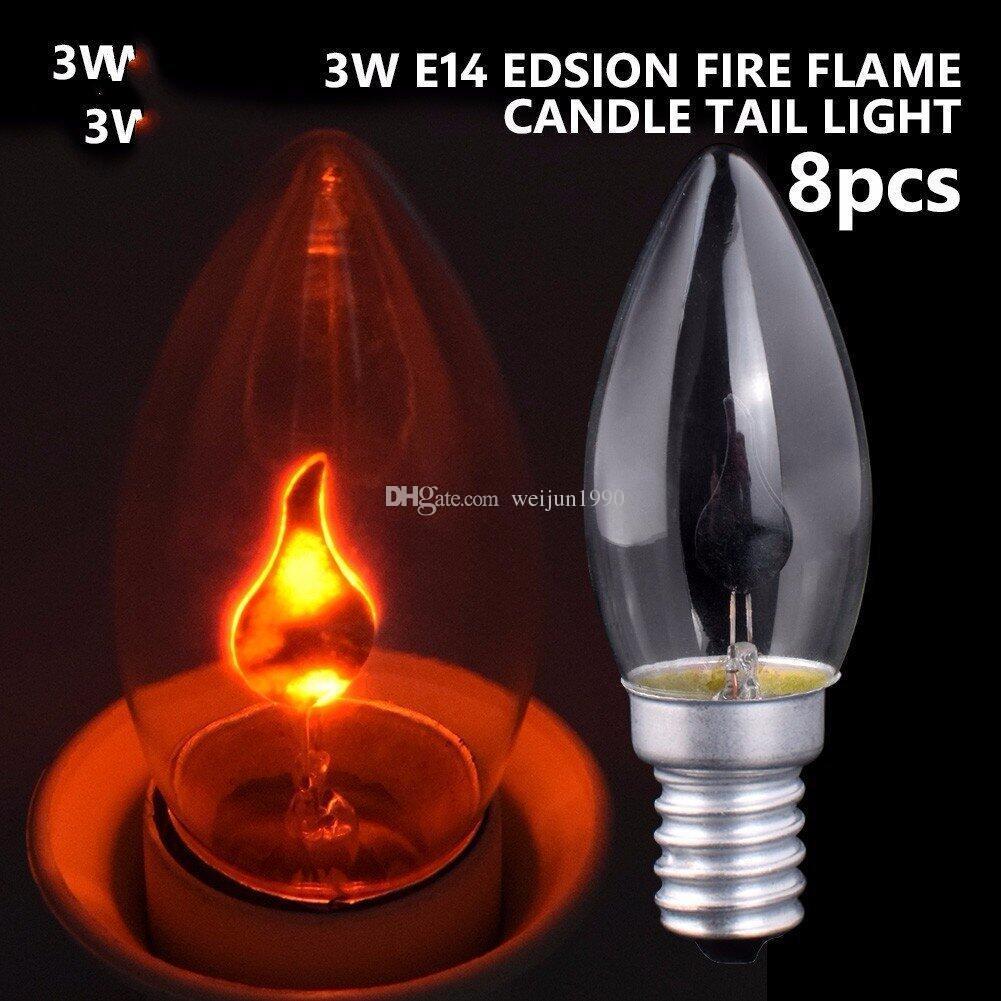 E27 E14 Dynamic LED Flame Light Bulb 3W Creative Light LED Flashing Simulation Atmosphere Decorative Light Candle Shape